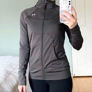 UNDER ARMOUR Grey Semi-fitted Track Jacket